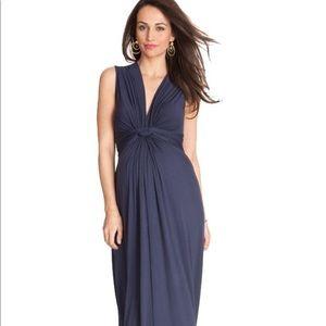 Seraphine Navy Blue Maternity Maxi Dress